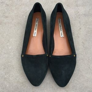 & Other Stories Dark Emerald Green Loafers 38